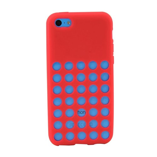 Duck Apple iPhone 5C Slikon Delikli Kapak Daily Pembe