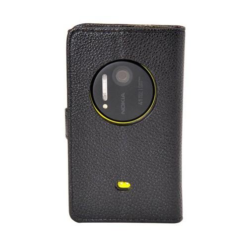 Vacca Nokia 1020 Yan Cüzdan Tip Kilif Black
