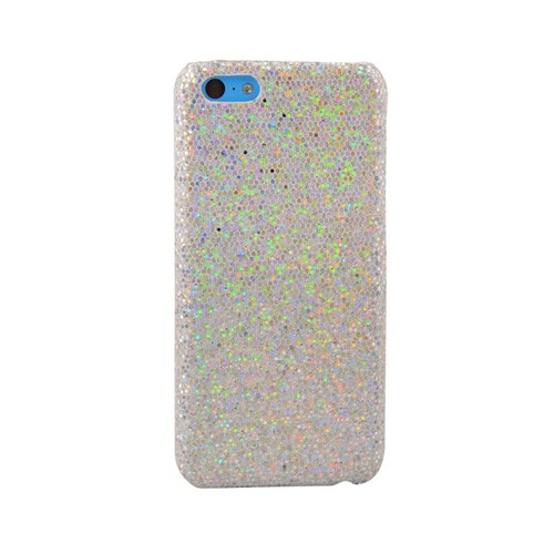 Vacca Apple İphone 5C Simli Kapak Lady-Line Silver