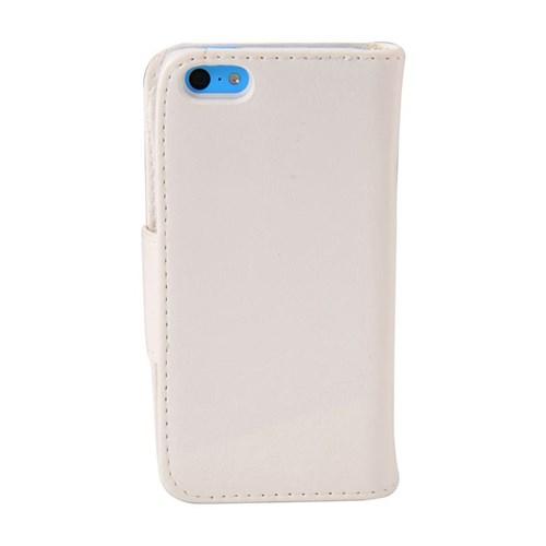 Duck Apple iPhone 5C Bileklikli Cüzdan Tip Kilif Beyaz