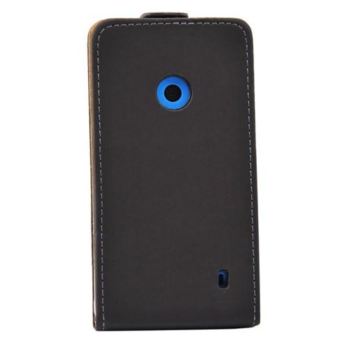 Duck Lumia 520 Silk Touch Kilif S-Line Siyah Kapak