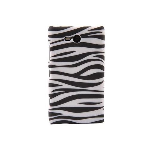 Duck Lumia 820 Zebra Desenli Daily Siyah-Beyaz Kapak