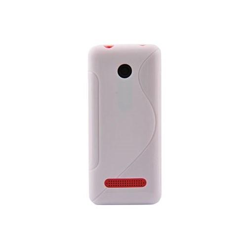 Duck Asha 206 Silikon Kilif Daily Beyaz Kapak