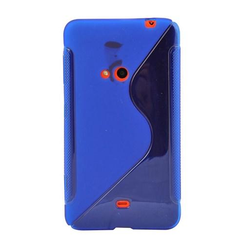 Vacca Nokia 625 Slikon Kapak Dalgali Mavi