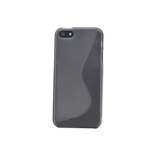 Duck Apple iPhone 5 Silikon Kilif - S-Line Grey - Gri Kapak