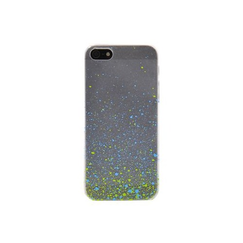 Duck Apple iPhone 5 Paint Drops S-Line Mavi-Yeşil Kapak