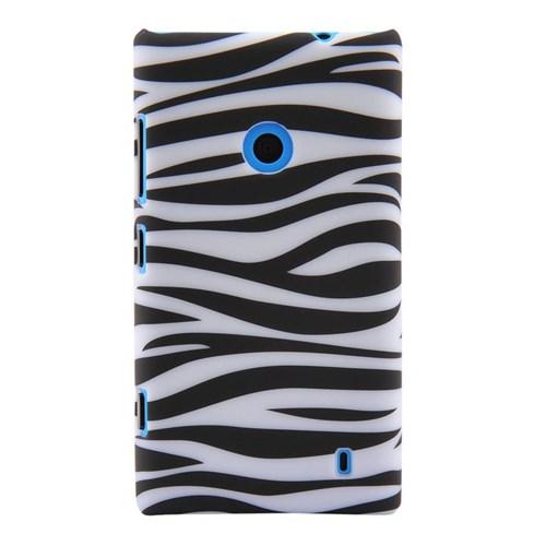 Duck Lumia 520 Zebra Desenli Daily Siyah-Beyaz Kapak