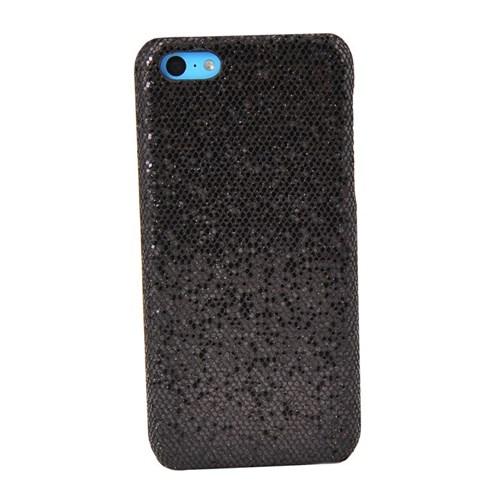 Vacca Apple İphone 5C Simli Kapak Lady-Line Siyah