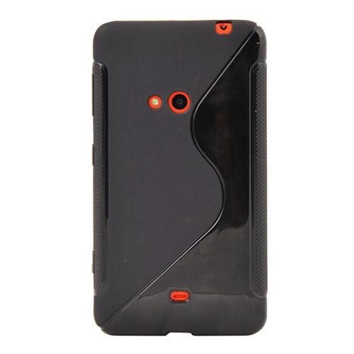 Vacca Nokia 625 Slikon Kapak Dalgali Siyah