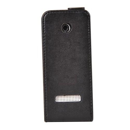 Vacca Nokia 301 Deri Dik Kilif Siyah