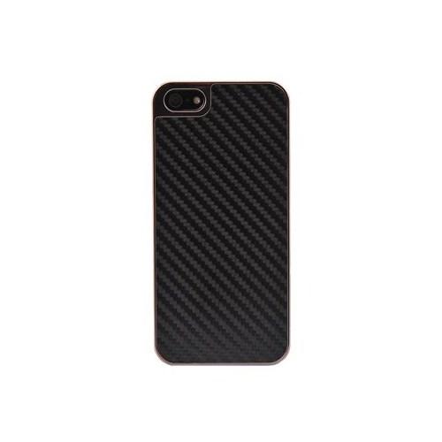 Duck Apple iPhone 5 Carbon Fiber Dokulu Business Class Siyah Kapak