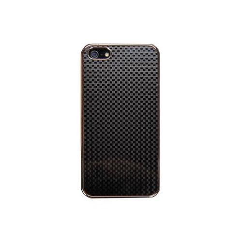 Vacca Apple İphone 5 Örgü Desen 2 Business Class Siyah Kapak