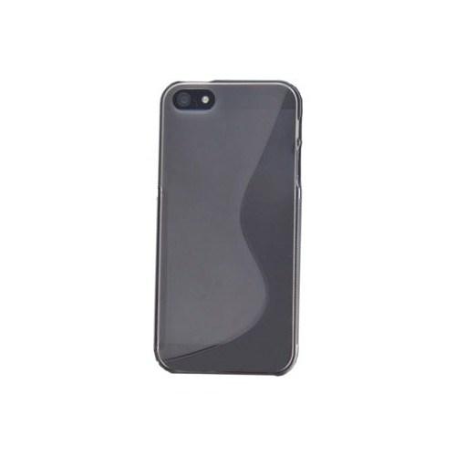 Duck Apple iPhone 5 Silikon Kilif - S-Line Black Siyah Kapak