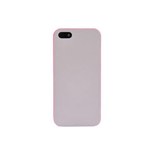 Duck Apple iPhone 5 Pembe Çerçeveli Daily Beyaz Kapak