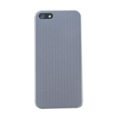 Duck Apple iPhone 5 - 3D Diagonal - Business Class Grey - Gri Kapak