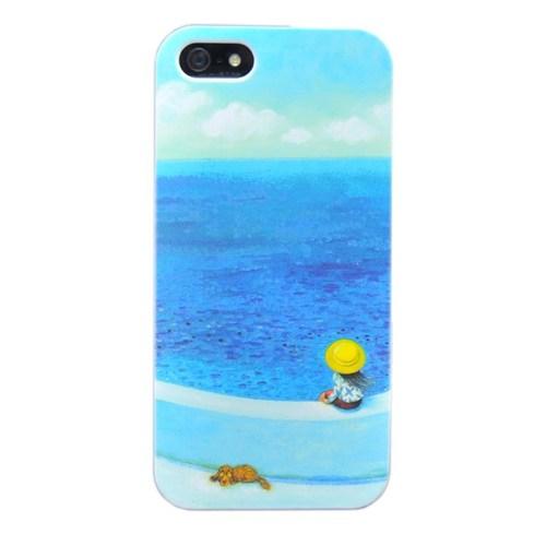 Duck Apple iPhone 5 Sahilde-Palette - Mavi Kapak