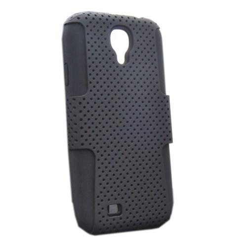 Vacca Samsung Galaxy S4 Double Layer 1 - Business Class - Siyah Kapak