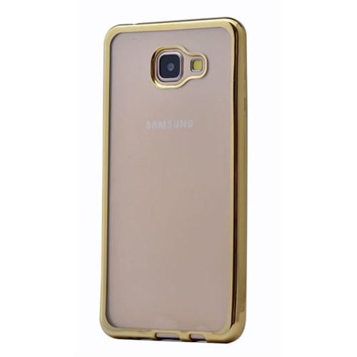 Lopard Samsung Galaxy A5 (2016) Kılıf Laser Şeffaf Arka Sert Kapak Gold