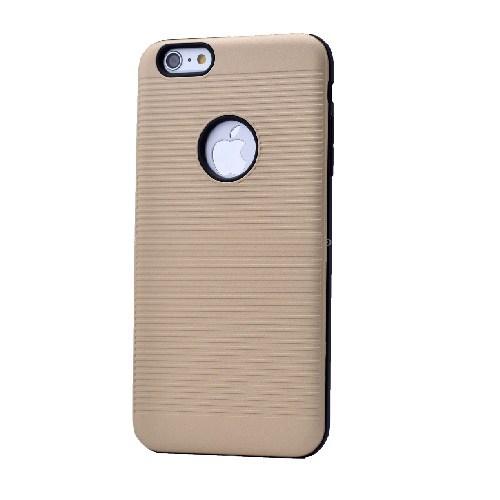 Lopard Apple İphone 6 Plus - 6S Plus Kılıf Youyu Arka Sert Kapak Bej