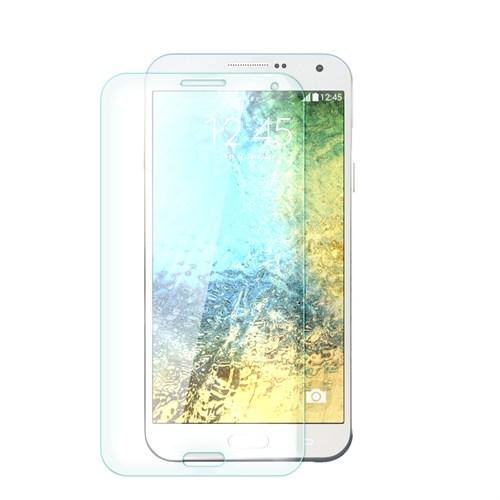 Cep Market Samsung Galaxy E7 Cam Kırılmaz Ön Ekran Koruyucu