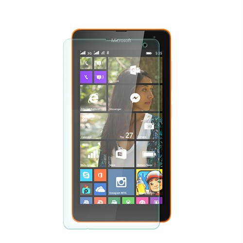 Cep Market Microsoft Lumia 535 Kırılmaz Cam Ekran Koruyucu - Tempered Glass