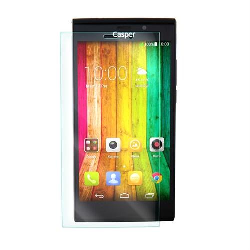 Cep Market Casper Via V6 Kırılmaz Cam Ekran Koruyucu - Tempered Glass