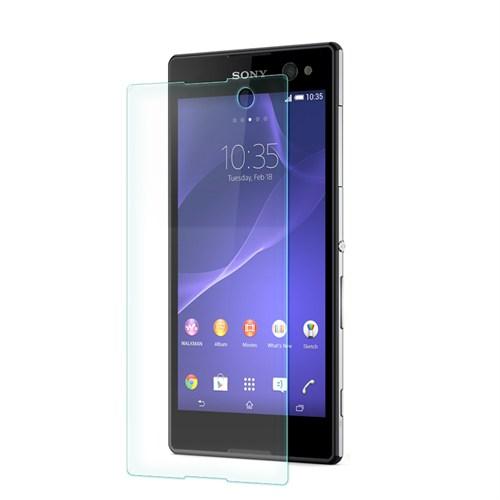 Cep Market Sony Xperia C3 Kırılmaz Cam Ekran Koruyucu - Tempered Glass