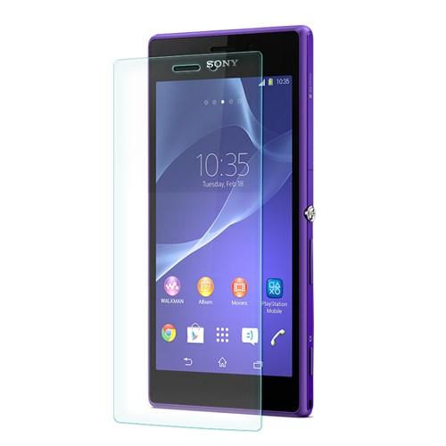 Cep Market Sony Xperia M2 Kırılmaz Cam Ekran Koruyucu - Tempered Glass