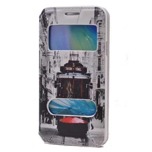 Teleplus Samsung Galaxy A3 Pencereli Desenli Kılıf Taksim