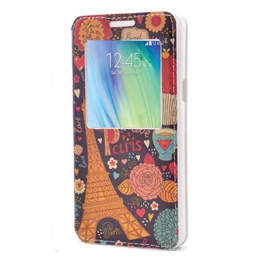 Teleplus Samsung Galaxy A5 Pencereli Desenli Kılıf Love