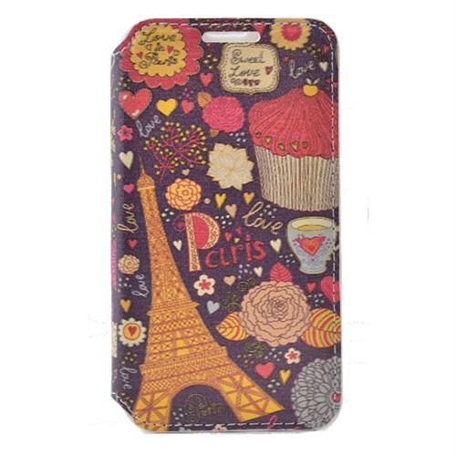 Teleplus Samsung Galaxy E5 Desenli Kılıf Paris
