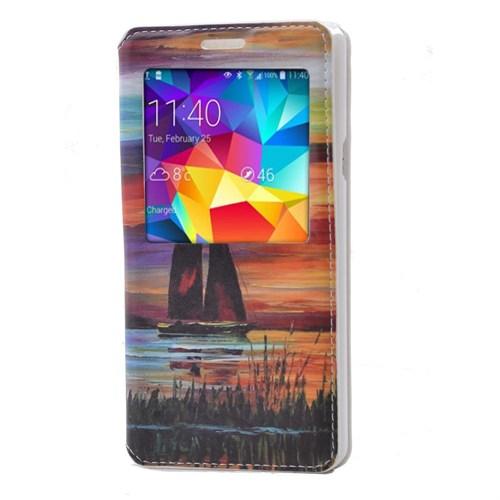 Teleplus Samsung Galaxy A7 Desenli Pencereli Kılıf Doğa