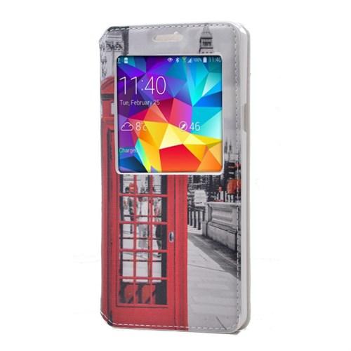 Teleplus Samsung Galaxy A7 Desenli Pencereli Kılıf Telefon