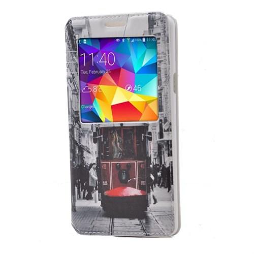 Teleplus Samsung Galaxy A7 Desenli Pencereli Kılıf Taksim