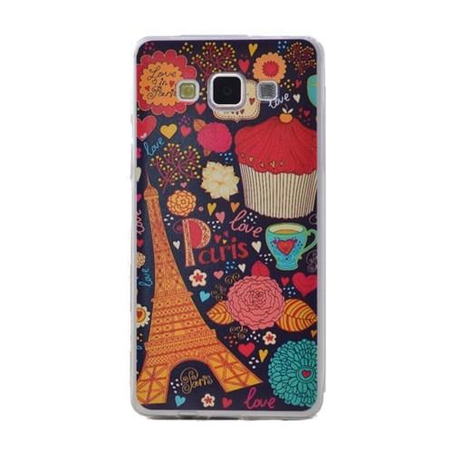 Teleplus Samsung Galaxy A3 Desenli Silikon Kılıf Paris