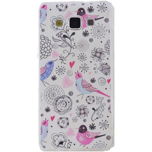 Teleplus Samsung Galaxy E5 Desenli Silikon Kılıf Kuş