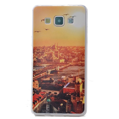 Teleplus Samsung Galaxy E7 Desenli Silikon Kılıf Doğa