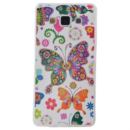 Teleplus Samsung Galaxy E7 Desenli Silikon Kılıf Kelebek