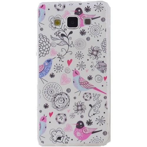 Teleplus Samsung Galaxy E7 Desenli Silikon Kılıf Kuş