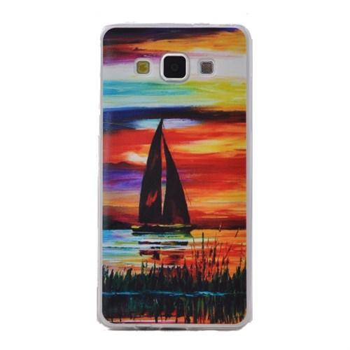 Teleplus Samsung Galaxy E7 Desenli Silikon Kılıf Manzara
