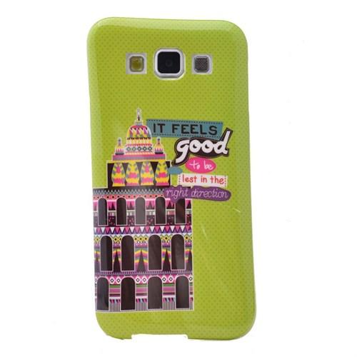 Teleplus Samsung Galaxy E7 Desenli Silikon Kılıf Good