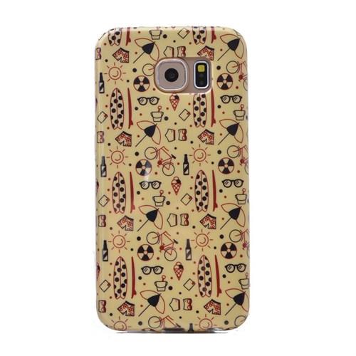 Teleplus Samsung Galaxy S6 Desenli Silikon Kılıf Desenli
