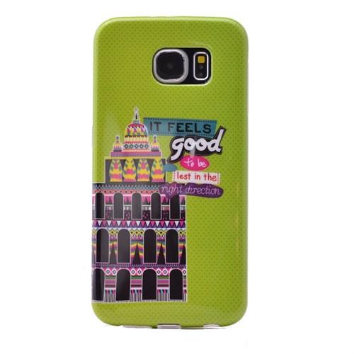 Teleplus Samsung Galaxy S6 Desenli Silikon Kılıf Good