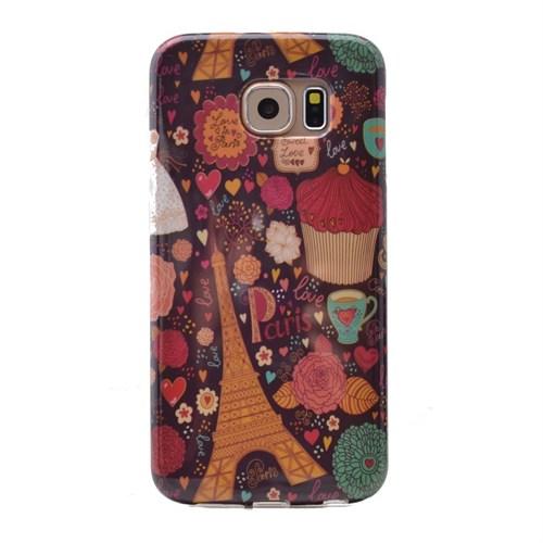 Teleplus Samsung Galaxy S6 Desenli Silikon Kılıf Paris