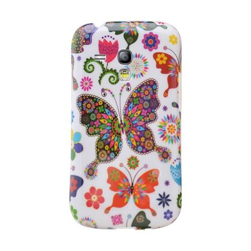 Teleplus Samsung Galaxy S3 Mini Desenli Silikon Kılıf Kelebek