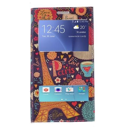 Teleplus Samsung Galaxy J5 Çift Pencereli Desenli Kılıf Paris