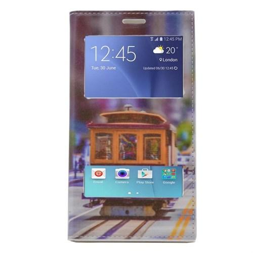 Teleplus Samsung Galaxy J7 Çift Pencereli Desenli Kılıf Tren
