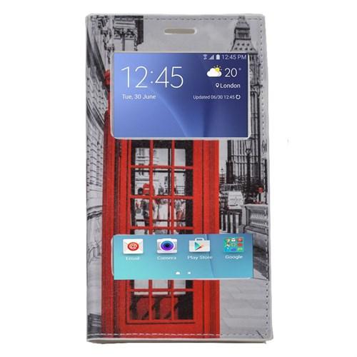 Teleplus Samsung Galaxy J7 Çift Pencereli Desenli Kılıf Telefon