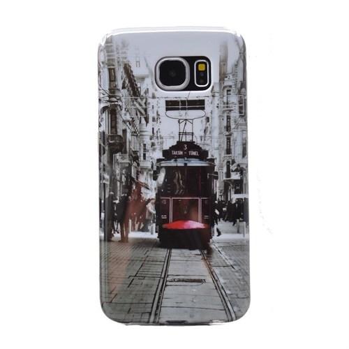 Teleplus Samsung Galaxy Note 5 Desenli Silikon Kılıf Taksim