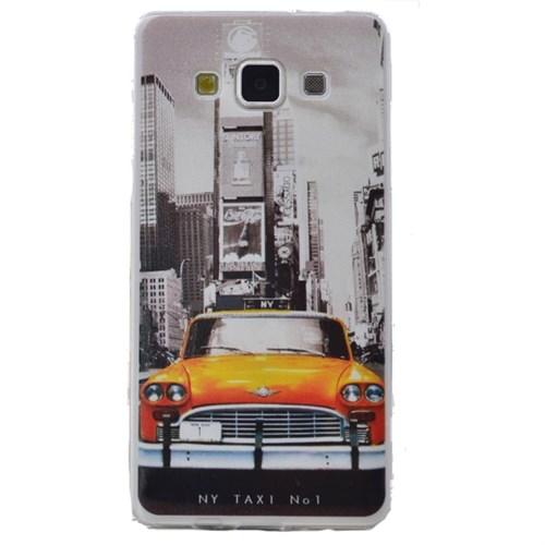 Teleplus Samsung Galaxy A8 Desenli Silikon Kılıf Taksi